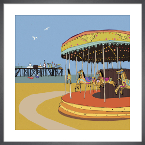 Carousel with Pier by Louise Cunningham