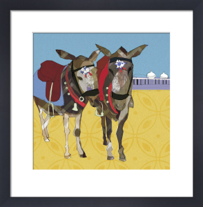 Blackpool Donkeys by Louise Cunningham