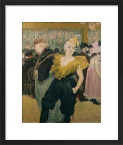 The Clown Cha U Kao by Henri de Toulouse-Lautrec