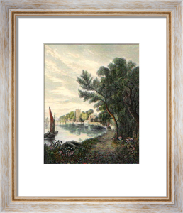 Putney from the Riverside (Restrike Etching) by Basil Bradley