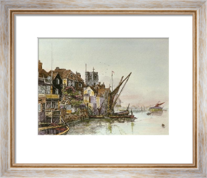 Chelsea, View of (Restrike Etching) by Charles Edward Holloway