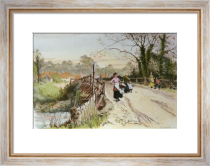 Village Bridge (Restrike Etching) by Percy Robertson