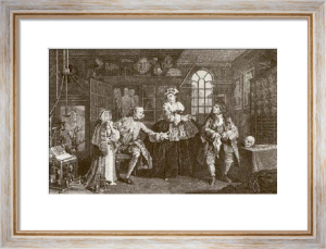 Marriage a La Mode - Pl. III (Restrike Etching) by William Hogarth