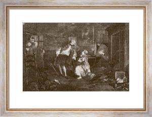 Marriage a La Mode - Pl. V (Restrike Etching) by William Hogarth