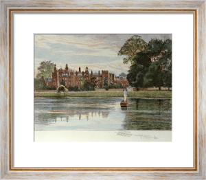 Eton by the River (Restrike Etching) by Frederick Miller