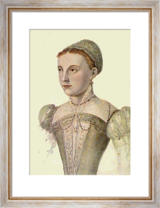 Mary Queen of Scots (Restrike Etching) by Francois Janet