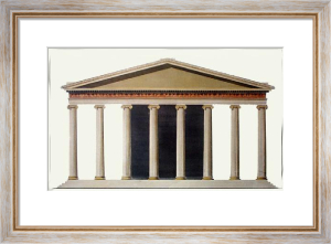Architectural - Magnesia Pl.II (Restrike Etching) by Francis Bedford