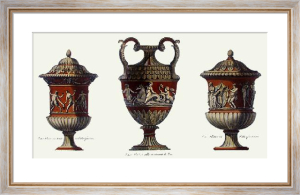 Vases - Pl. V (T'cotta) (Restrike Etching) by Anonymous