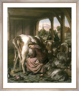 Maid & The Magpie (Restrike Etching) by Sir Edwin Henry Landseer