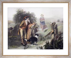 Gentle Shepherd, The (Restrike Etching) by Alexander Johnston