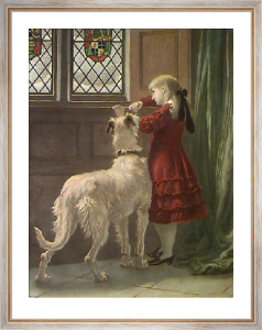 Imprisoned (Restrike Etching) by Briton Riviere
