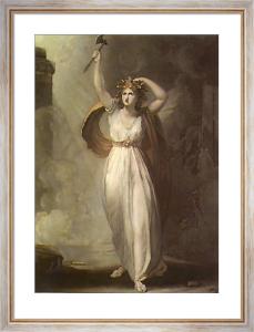 Lady Hamilton as Cassandra (Restrike Etching) by George Romney