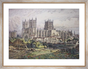 Bristol Cathedral (Restrike Etching) by Charles Bird
