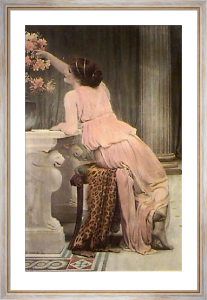 Flower Worship (Restrike Etching) by Charles Edward Perugini
