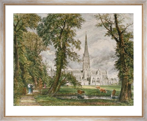 Salisbury Cathedral (Restrike Etching) by John Constable