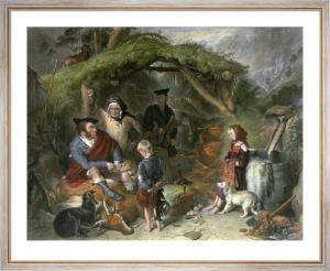 Highland Whisky Still (Large) (Restrike Etching) by Sir Edwin Henry Landseer