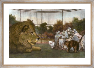 Cat May Look At A King (Restrike Etching) by George Hughes