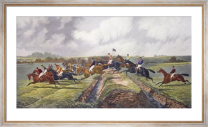 The Double, Punchestown (Restrike Etching) by Sturgess