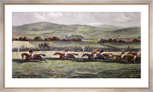 The Finish, Punchestown (Restrike Etching) by Sturgess