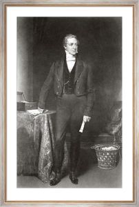 Sir Robert Peel (Restrike Etching) by Henry William Pickersgill