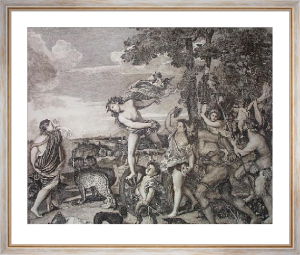 Bacchus & Ariadne (Restrike Etching) by Titian