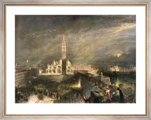 St Marks by Moonlight (Restrike Etching) by Joseph Mallord William Turner