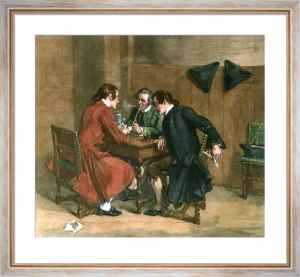 Three Smokers (Restrike Etching) by Jean-Louis Ernest Meissonier