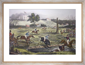 Grand Military Steeplechase (Restrike Etching) by Alexander