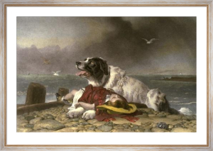 Saved (Restrike Etching) by Sir Edwin Henry Landseer