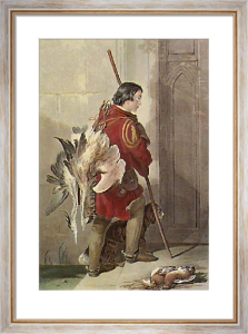 Falconer's Son (Restrike Etching) by Sir Edwin Henry Landseer