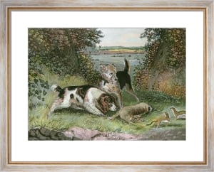 Poachers Disturbed (Restrike Etching) by John Frederick Lewis