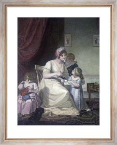 Maternal Instruction (Restrike Etching) by Schaivonnetti