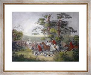 Fox Hunting - Plate 2 (Restrike Etching) by Dean Wolstenholme