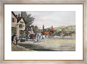London Mail & Stage Coach (Restrike Etching) by James Pollard