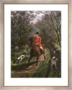 Bringing Tail Hounds (Restrike Etching) by Inglis Sheldon-Williams
