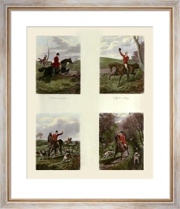 Hunting Incidents 4 on (Restrike Etching) by Inglis Sheldon-Williams