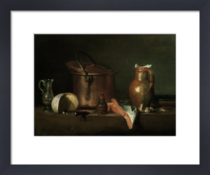 Still-life with copper pot by Jean Baptiste Chardin