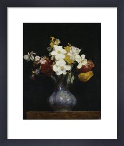 Daffodils and Tulips by Ignace-Henri-Théodore Fantin-Latour