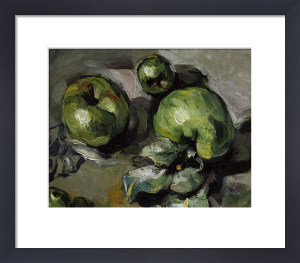 Green apples (detail) by Paul Cezanne