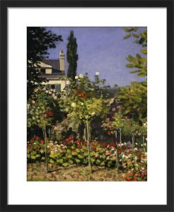 Garden in bloom (detail 1) by Claude Monet