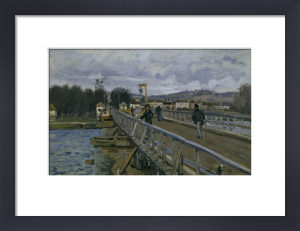 Footbridge in Argenteuil by Alfred Sisley