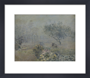Fog in Voisins by Alfred Sisley