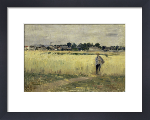 In the cornfields at Gennevilliers by Berthe Morisot
