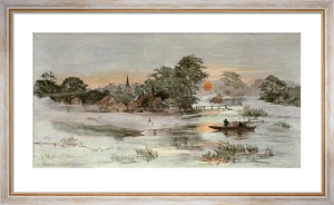 Rising Mist of Early Morn (Restrike Etching) by Edward Slocombe