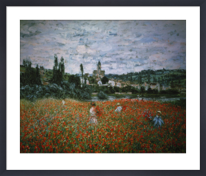 Poppy Field near Vétheuil by Claude Monet