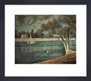 The Seine near Grande Jatte by Georges Seurat