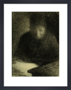 Woman reading by Georges Seurat