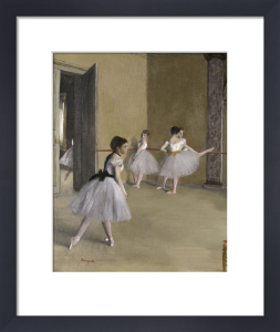 Ballet room at the opera in Rue Le Peletier (detail II) by Edgar Degas