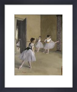 Ballet room at the opera in Rue Le Peletier (detail II) by Edgar Degas