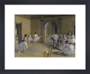 Ballet room at the opera in Rue Le Peletier by Edgar Degas